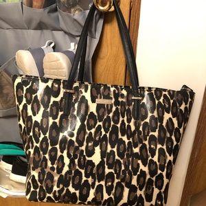Kate Spade leopard print large tote